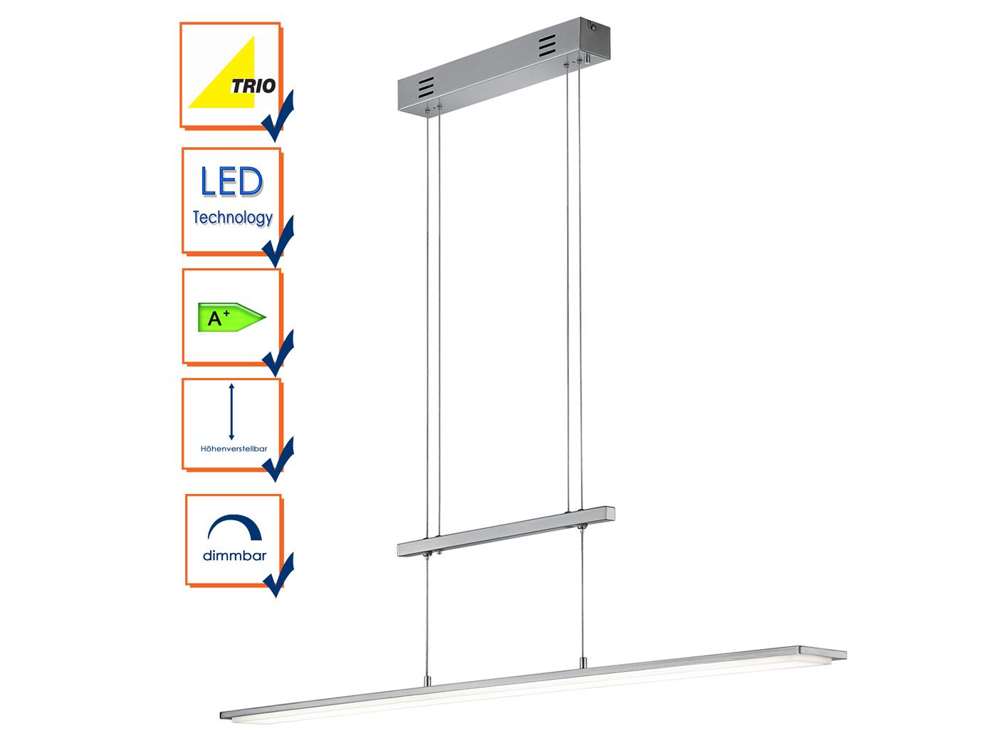Höhenverstellbar LED Pendelleuchte / Hängeleuchte DENVER, Trio